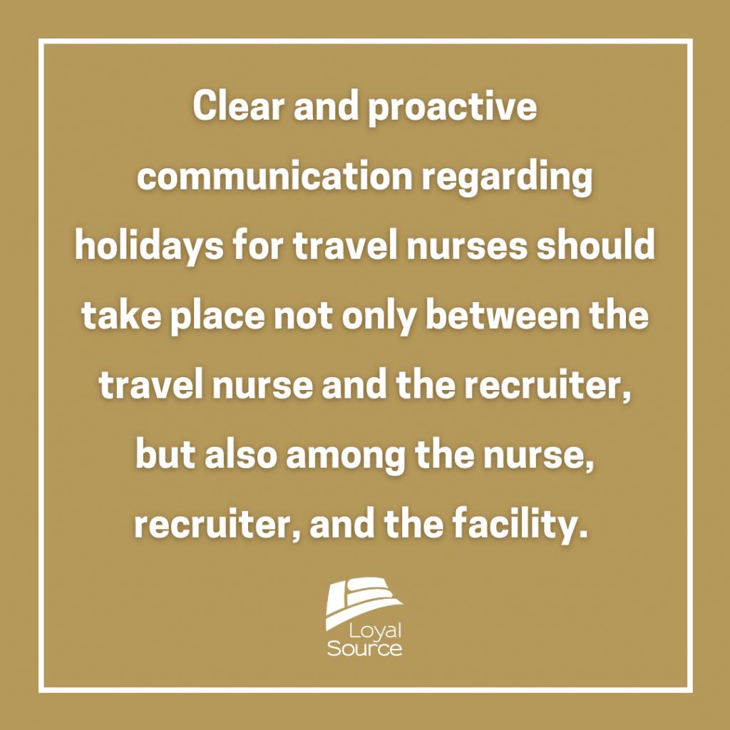 Travel Nurse Pay Communication